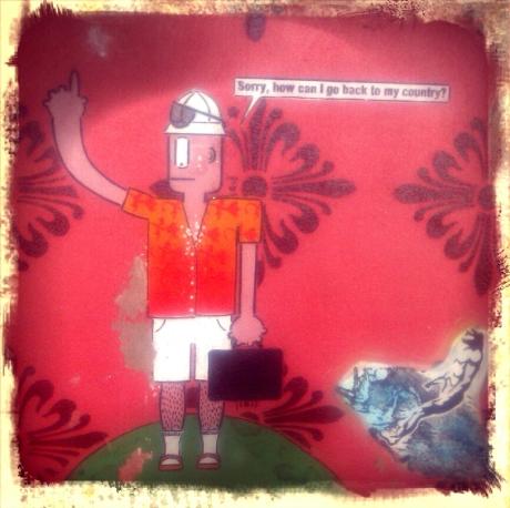 In Menorca, silver lining, street art style