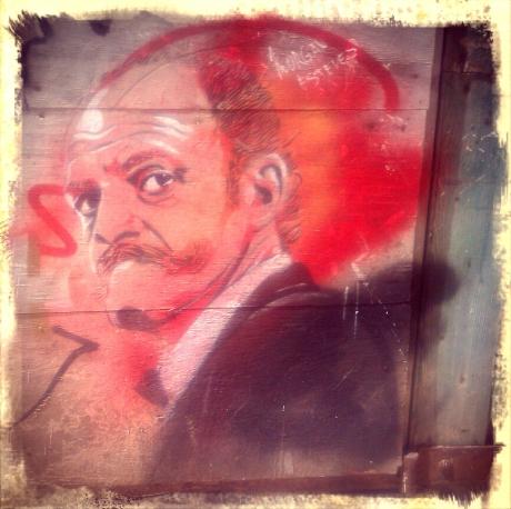 Ciutadella stencil portrait