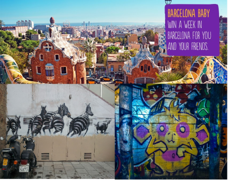 Win a week in Barcelona. Sun, sea, and of course, street art